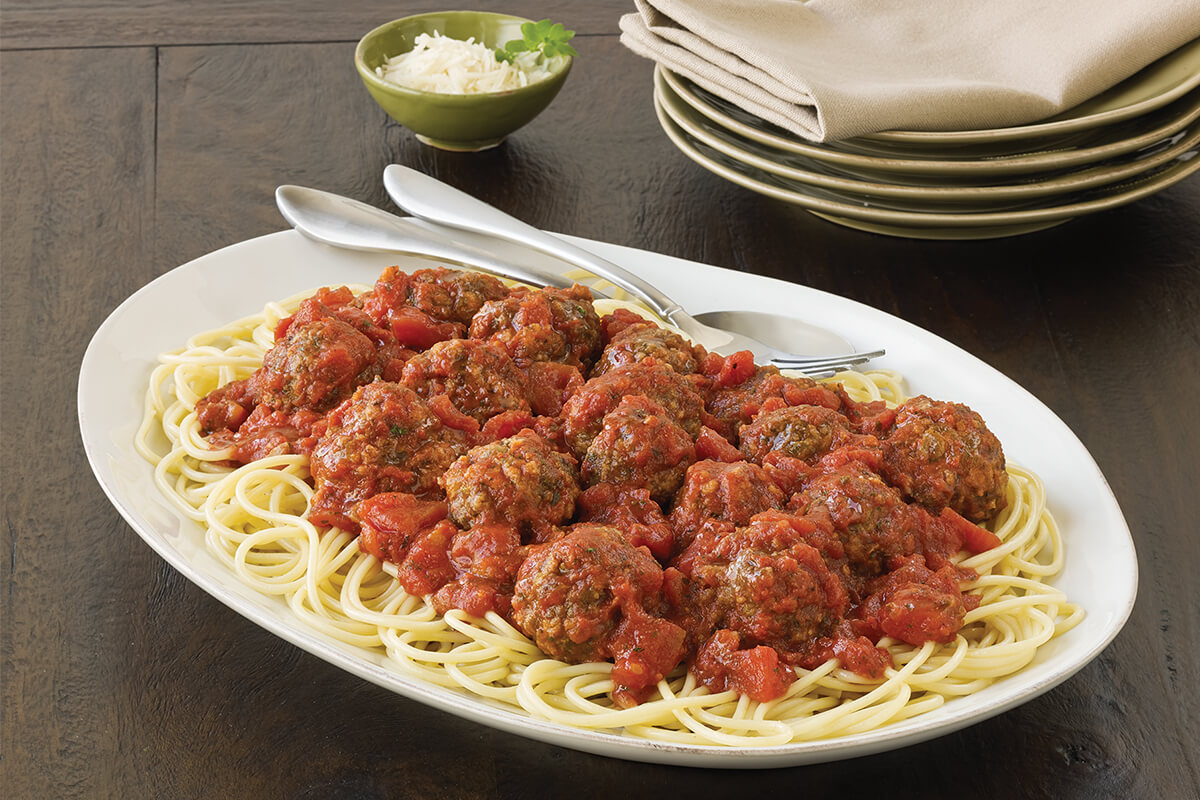 Baked Meatballs in Tomato Herb Sauce
