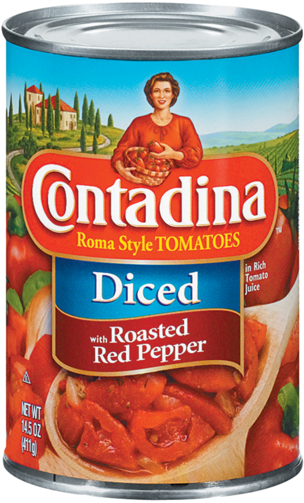 Diced Tomatoes with Roasted Red Pepper