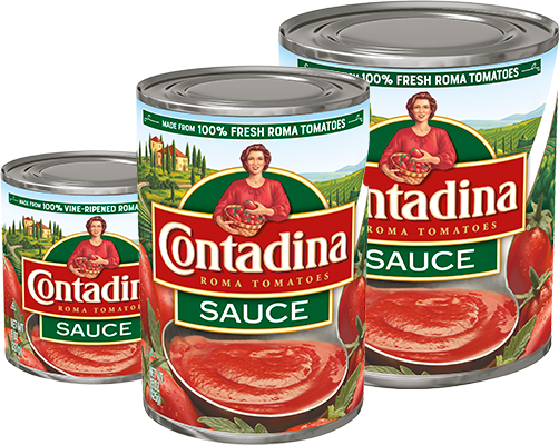 Tomato sauce cans