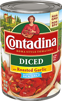 Diced Tomatoes with Roasted Garlic can